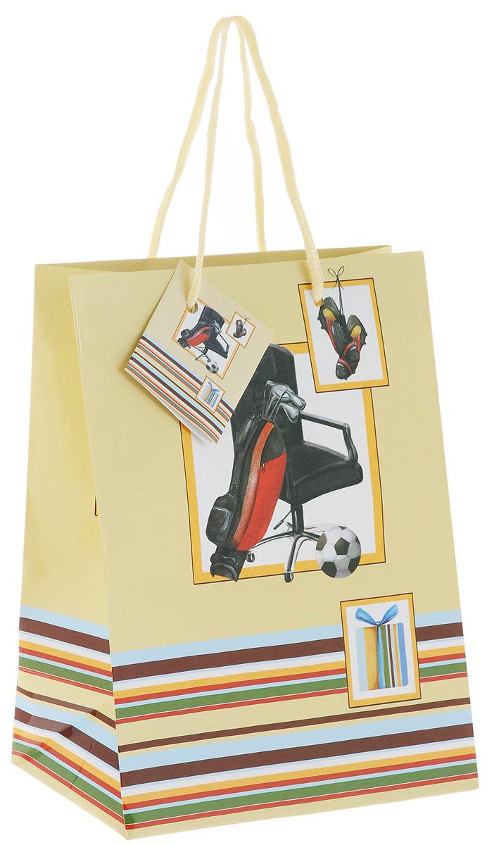 Пакет подарочный Феникс-Презент Увлечения, 17,8 х 9,8 х 22,9 смAL-017Подарочный пакет Феникс-Презент Увлечения, изготовленный из плотной бумаги, станет незаменимым дополнением к выбранному подарку. Дно изделия укреплено картоном, который позволяет сохранить форму пакета и исключает возможность деформации дна под тяжестью подарка. Пакет выполнен с глянцевой ламинацией, что придает ему прочность, а изображению - яркость и насыщенность цветов. Для удобной переноски имеются две текстильные ручки в виде шнурков.Подарок, преподнесенный в оригинальной упаковке, всегда будет самым эффектным и запоминающимся. Окружите близких людей вниманием и заботой, вручив презент в нарядном, праздничном оформлении.