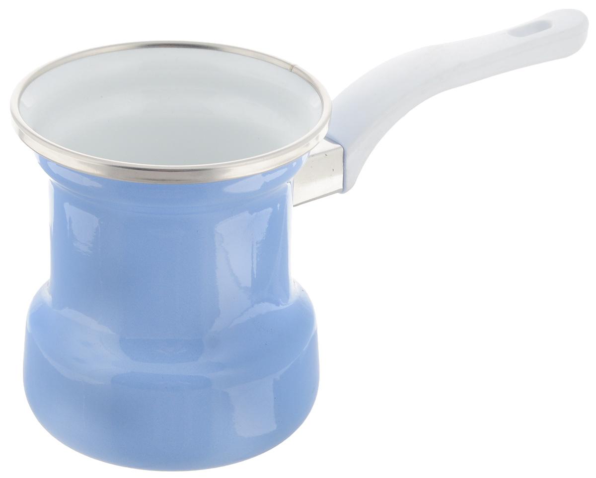 Кофеварка ЛЗЭП ОАО Lazurit, эмалированная, 400 мл1163Кофеварка Lazurit прекрасно подходит для приготовления настоящего кофе на плите. Изготовлена из экологически чистой и высококачественной стали. Изделие имеет эмалированное покрытие. Кофеварка оснащена широким горлом и прочной пластиковой ручкой. Такая кофеварка прекрасно впишется в интерьер вашей кухни, а благодаря эксклюзивному дизайну станет замечательным подарком к любому случаю. Диаметр (по верхнему краю): 9 см. Высота стенки: 10 см. Длина ручки: 12,5 см.