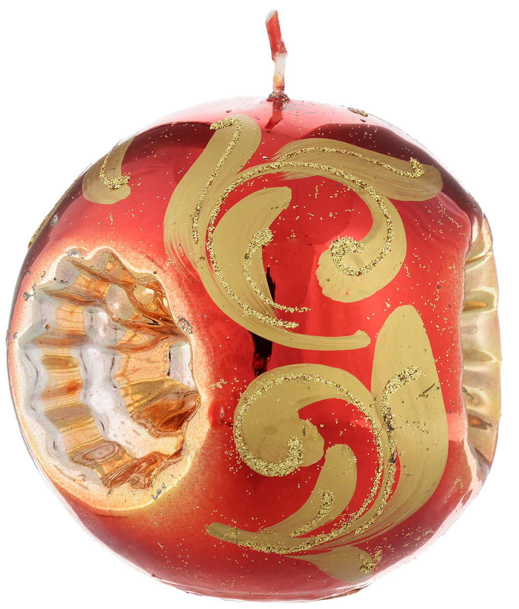 Свеча-шар Fem Рефлектор, цвет: красный, золотой, диаметр 10 см1790/5127Свеча-шар Fem Рефлектор изготовлена из парафина и декорирована изящным узором с блестками. Такая свеча станет изысканным украшением интерьера. Она принесет в ваш дом волшебство и ощущение праздника.