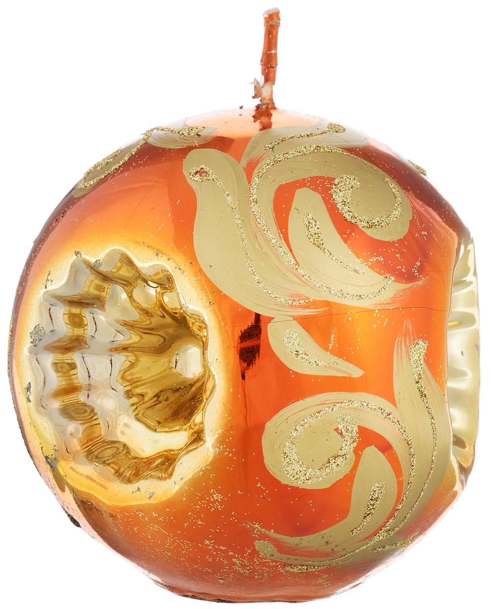 Свеча-шар Fem Рефлектор, цвет: медный, золотой, диаметр 10 см74-0120Свеча-шар Fem Рефлектор изготовлена из парафина и декорирована изящным узором с блестками. Такая свеча станет изысканным украшением интерьера. Она принесет в ваш дом волшебство и ощущение праздника.