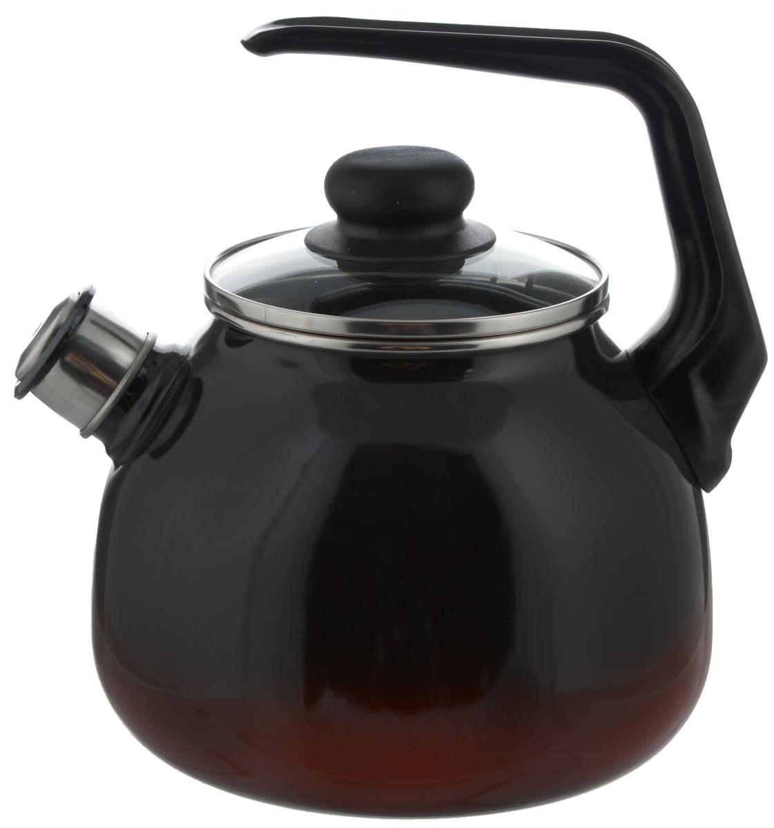 Чайник СтальЭмаль Кармен, со свистком, цвет: черный, красный, 3 лVT-1520(SR)Чайник СтальЭмаль Кармен изготовлен из высококачественной нержавеющей стали с эмалированным покрытием. Нержавеющая сталь обладает высокой устойчивостью к коррозии, не вступает в реакцию с холодными и горячими продуктами и полностью сохраняет их вкусовые качества. Особая конструкция дна способствует высокой теплопроводности и равномерному распределению тепла. Чайник оснащен удобной ручкой. Носик чайника имеет снимающийся свисток, звуковой сигнал которого подскажет, когда закипит вода. Подходит для всех типов плит, включая индукционные. Можно мыть в посудомоечной машине.Диаметр чайника (по верхнему краю): 12,5 см.Высота чайника (без учета ручки и крышки): 15 см.Высота чайника (с учетом ручки): 23 см.
