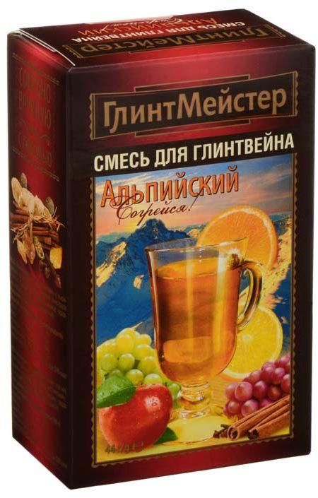 ГлинтМейстер набор для глинтвейна альпийский, 44 гбви015Этот согревающий зимний напиток любое ненастье способен превратить в праздник!А бокал глинтвейна дополнит это ощущение.Подарите хорошее настроение своим близким! ПЕРВЫЙ на российском рынке набор для глинтвейна, который предлагается готовить на основе белого вина. Такие глинтвейны изредка можно встретить в барах Австрии и в барах других европейских стран.3 балла по шкале интенсивности аромата. Акцент в аромате на корицу. Оригинальный рецепт, не имеющий аналогов на российском рынке.