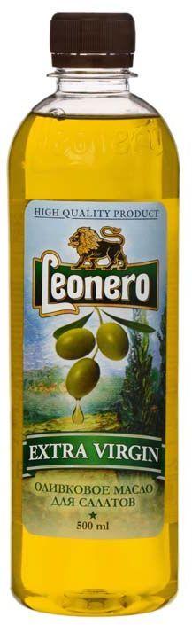 Leonero масло оливковое нерафинированное Extra Virgin, 500 мл0120710Испанское оливковое масло произведено по традиционной технологии из классических сортов оливок.