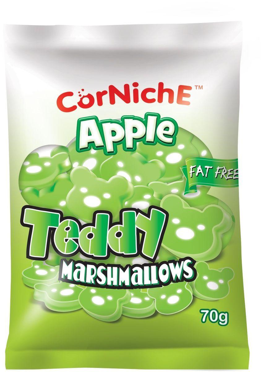 Corniche Marshmallows тедди яблоко, 70 гифи001Маршмелоу Тедди - это симпатичные медвежата с нежным вкусом манго, которые очень нравятся детям. Могут быть самостоятельным лакомством или выступить в роли дополнения к освежающему напитку, фруктовому салату или мороженому. Отлично подойдут для создания настроения на детской вечеринке или утреннике в детском саду.