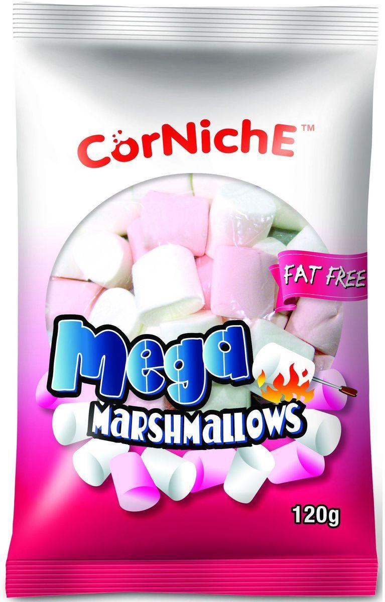 Corniche Marshmallows мега, 120 г0120710Поедем на пикник, будем жарить зефир на костре - эта загадочная фраза именно о маршмеллоу – воздушном жевательном зефире, который можно растапливать на огне и в горячем кофе/какао/шоколаде. Кусочек мягкого, ароматного зефира имеет такую форму, чтобы ее было удобно надеть на палочку и протянуть к огню. Снаружи у него образуется тонкая корочка, а внутри бушует маленькое море растопленного зефира. Как использовать - для пикников и вечерних посиделок у костра, в качестве топпинга к мороженому, пудингу, фруктовым салатам. Как ароматная добавка к кофе, какао, горячему шоколаду, для приготовления домашней мастики и украшения тортов.