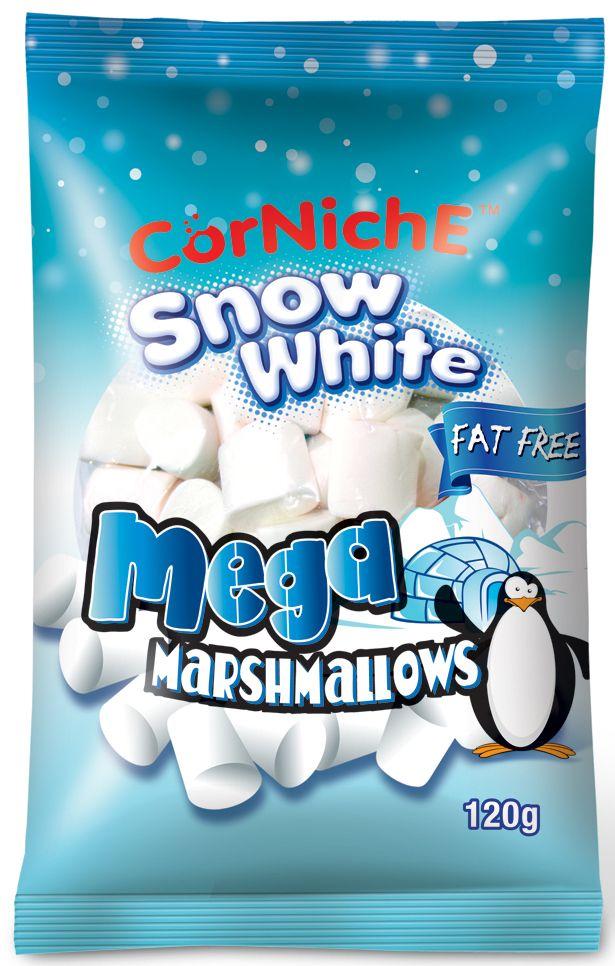Corniche Marshmallows снежок, 120 г0120710Поедем на пикник, будем жарить зефир на костре - эта загадочная фраза именно о маршмеллоу – воздушном жевательном зефире, который можно растапливать на огне и в горячем кофе/какао/шоколаде. Кусочек мягкого, ароматного зефира имеет такую форму, чтобы ее было удобно надеть на палочку и протянуть к огню. Снаружи у него образуется тонкая корочка, а внутри бушует маленькое море растопленного зефира. Как использовать - для пикников и вечерних посиделок у костра, в качестве топпинга к мороженому, пудингу, фруктовым салатам. Как ароматная добавка к кофе, какао, горячему шоколаду, для приготовления домашней мастики и украшения тортов.
