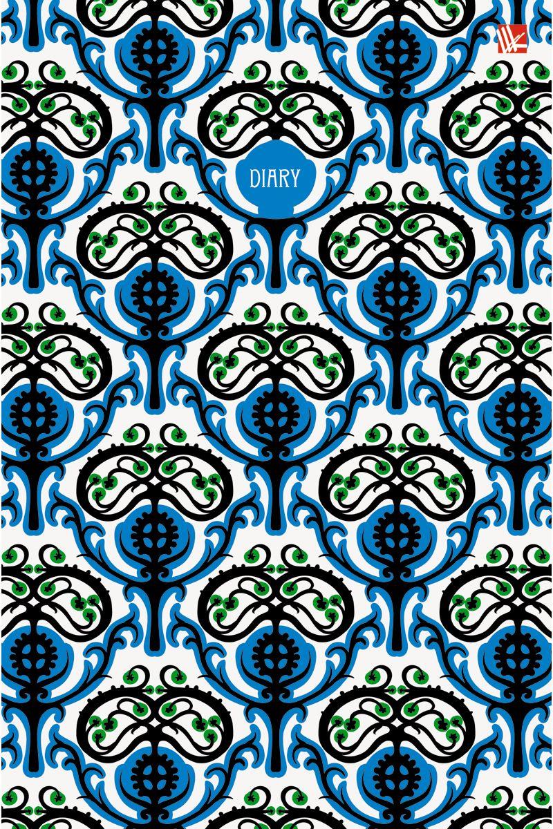 Канц-Эксмо Ежедневник Орнамент Ярко-синий узор недатированный 152 листа формат А572523WDЕжедневник недатированный в твердой обложке формата А5, 152 листа. Обложка с матовой ламинацией и выборочным лакированием. Форзацы - карты России/мира. Бумага офсет 60 г/м2, белая, однокрасочная печать. Обширный справочный материал: календарь на 4 года, таблицы мер, весов, размеров, условных обозначений, часовые пояса, коды регионов и др.