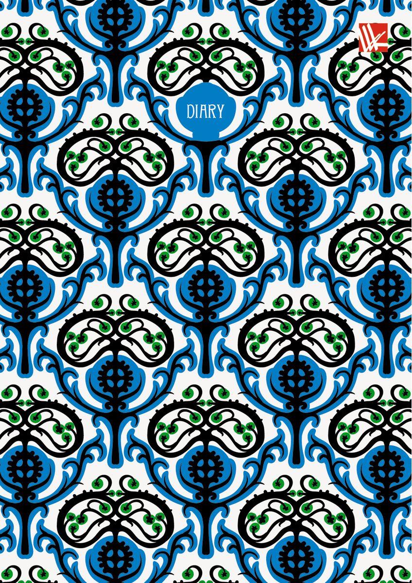 Канц-Эксмо Ежедневник Орнамент Ярко-синий узор недатированный 160 листов формат А672523WDЕжедневник недатированный в твердой обложке формата А6, 160 листов. Обложка с матовой ламинацией и выборочным лакированием. Форзацы - карты России/мира. Бумага офсет 60 г/м2, белая, однокрасочная печать. Обширный справочный материал: календарь на 4 года, таблицы мер, весов, размеров, условных обозначений, часовые пояса, коды регионов и др.