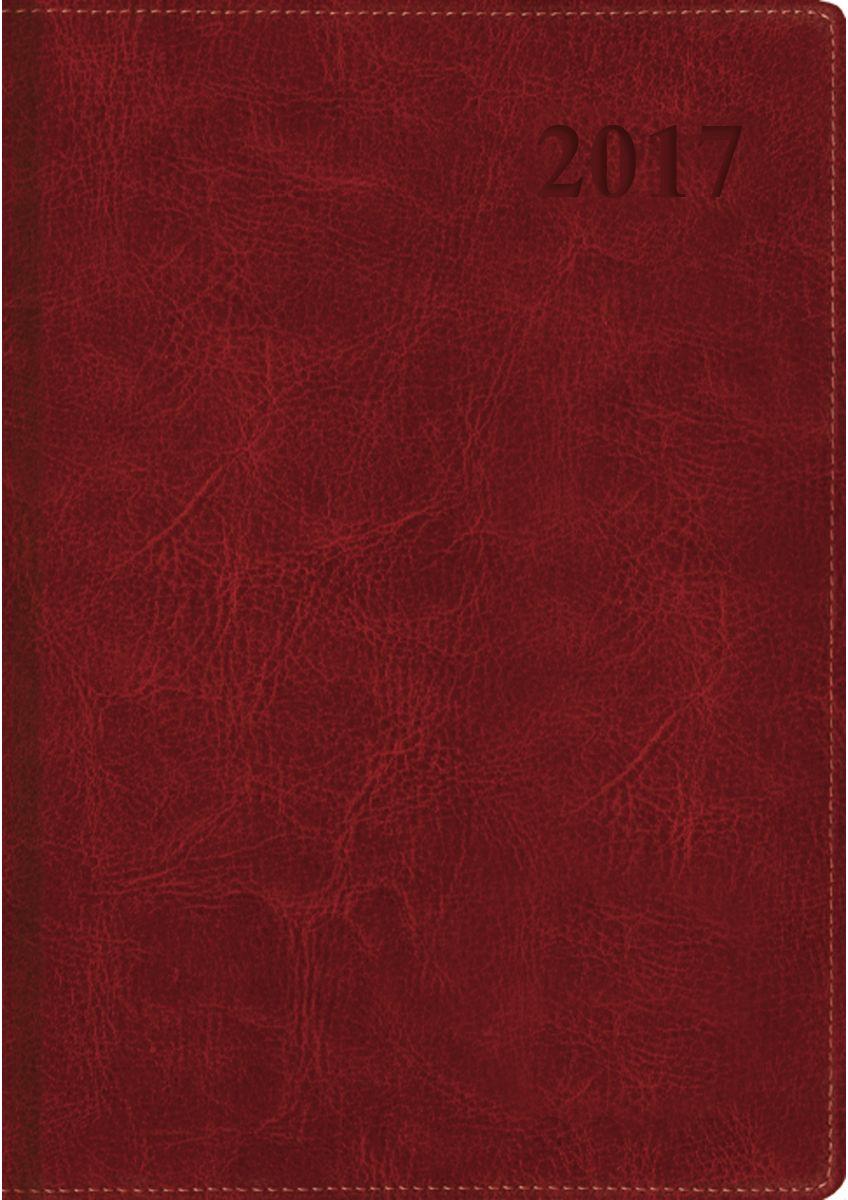 Канц-Эксмо Ежедневник Classic 2017 датированный 176 листов цвет бордовый формат A5ЕКК17517602Ежедневник датированный на 2017 год выполнен в твердом переплете из искусственной кожи с поролоном А5, 176 листов. Бумага офсет 70 г/м2, тонированная бежевая, однокрасочная печать, скругленные уголки, ляссе. Подходит под тиснение.