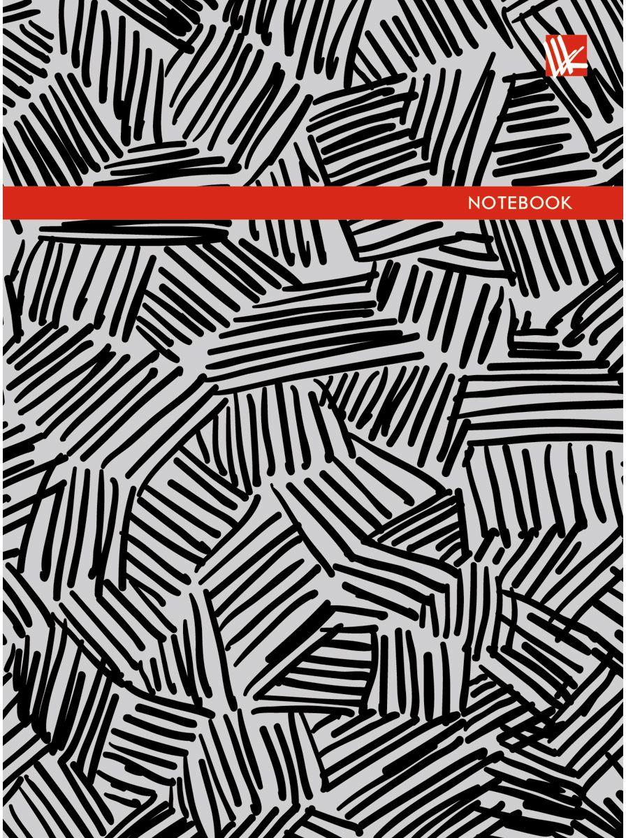 Канц-Эксмо Записная книжка Орнамент Монохром 96 листов в клетку канц эксмо записная книжка орнамент розовые пионы 64 листа в клетку