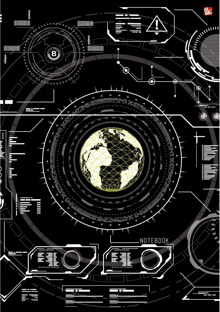 Канц-Эксмо Записная книжка Офисный стиль Хай-тек 100 листов в клетку40766_2Записная книжка в твердом переплете А4, 100 листов. Обложка с глянцевой ламинацией. Бумага – офсет 60 г/м2, белая, клетка. Сшитый блок.