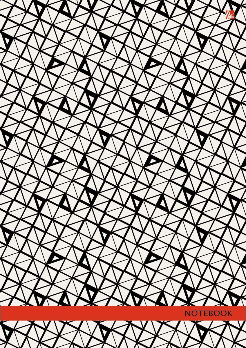 Канц-Эксмо Записная книжка Орнамент Графический узор 160 листов в клетку72523WDЗаписная книжка в твердом переплете А4, 160 листов. Обложка с глянцевой ламинацией. Бумага – офсет 60 г/м2, белая, клетка. Сшитый блок.