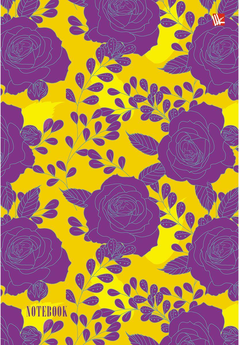Канц-Эксмо Записная книжка Цветы Сиреневые розы 80 листов в клеткуЕЖИ17512807Записная книжка в твердом переплете А5, 80 листов. Обложка с глянцевой ламинацией. Форзацы белые. Бумага – офсет 60 г/м2, белая, клетка. Сшитый блок.