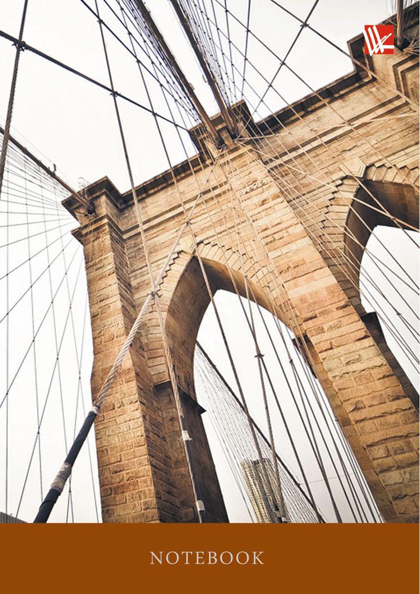 Канц-Эксмо Записная книжка Городской стиль Мост 64 листа в клетку канц эксмо записная книжка орнамент розовые пионы 64 листа в клетку