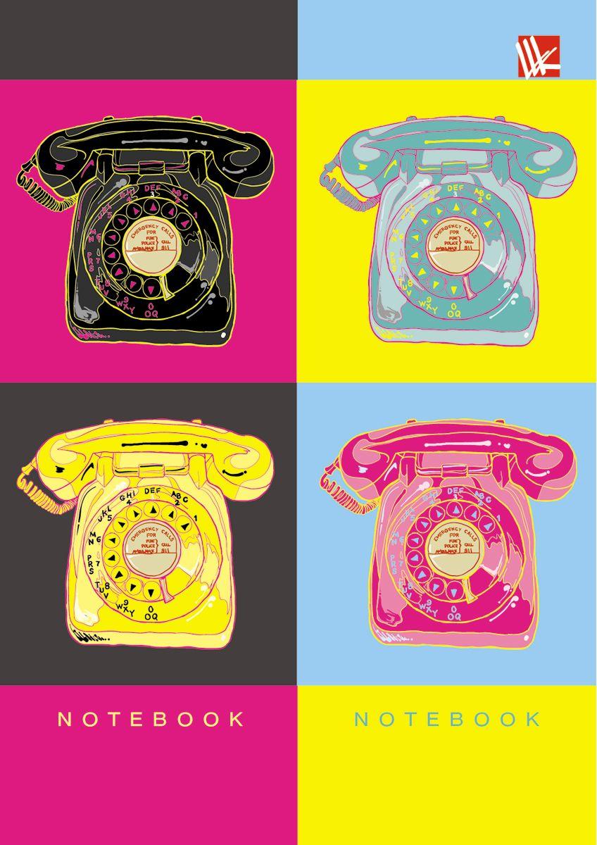 Канц-Эксмо Записная книжка Графика Яркий стиль 64 листа в клетку канц эксмо записная книжка орнамент розовые пионы 64 листа в клетку