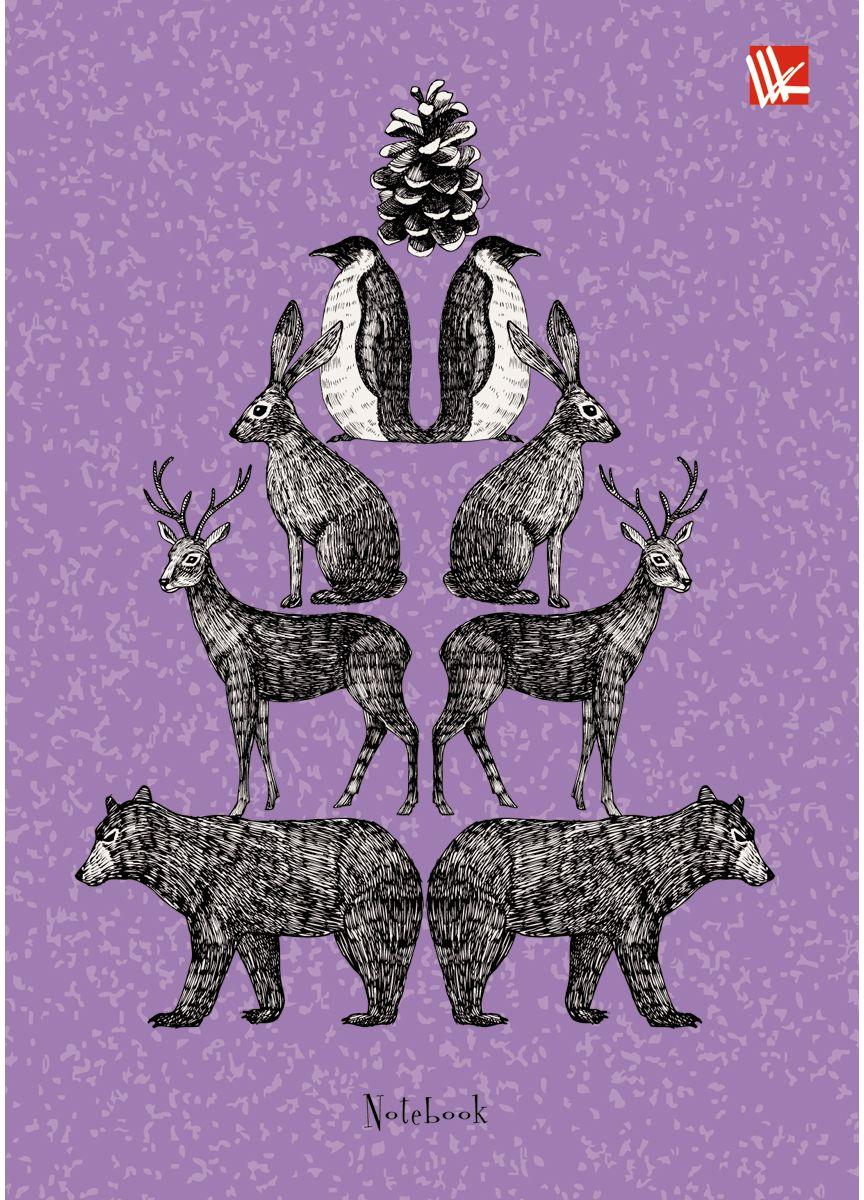 Канц-Эксмо Записная книжка Графика Животные 80 листов в клетку72523WDЗаписная книжка в твердом переплете А6, 80 листов. Обложка с глянцевой ламинацией. Форзацы белые. Бумага – офсет 60 г/м2, клетка. Сшитый блок.