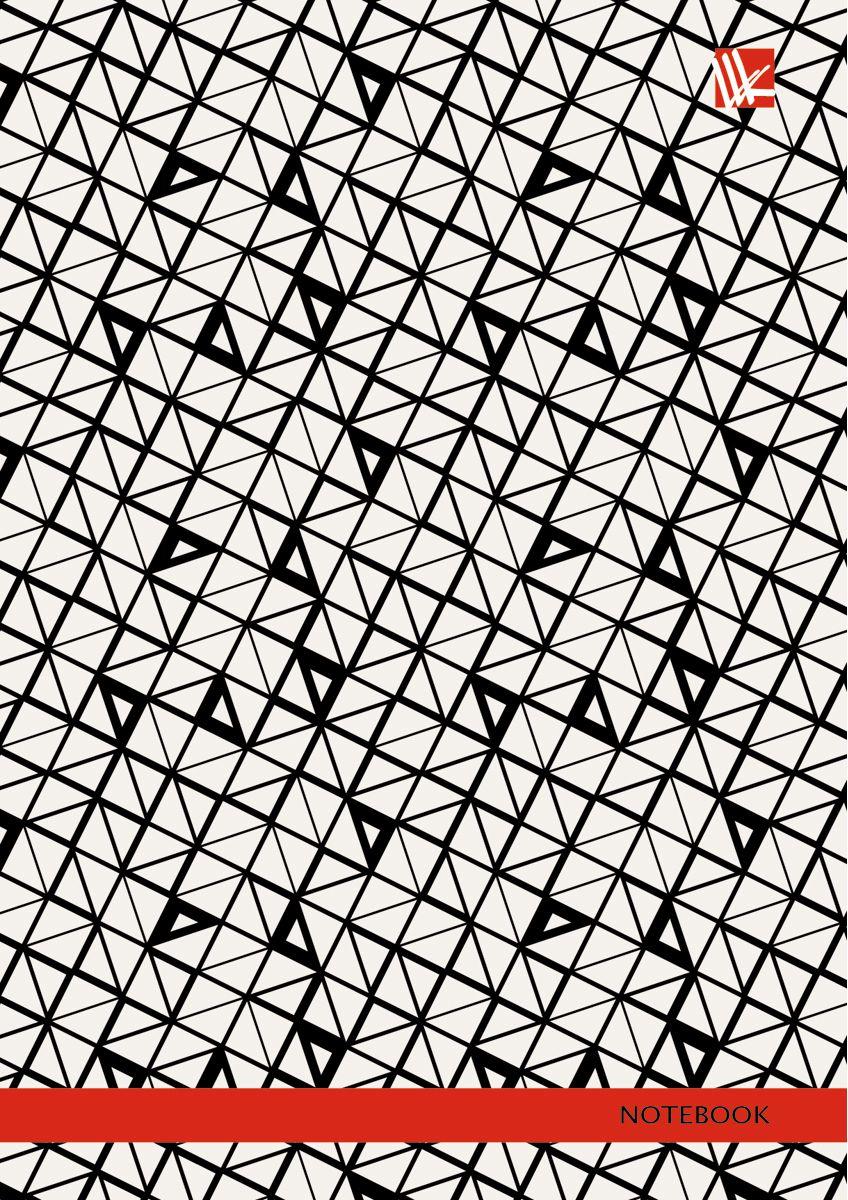 Канц-Эксмо Записная книжка Офисный стиль Графический узор 96 листов в клетку72523WDЗаписная книжка в твердом переплете А6, 96 листов. Обложка с глянцевой ламинацией. Форзацы белые. Бумага – офсет 60 г/м2, клетка. Сшитый блок.