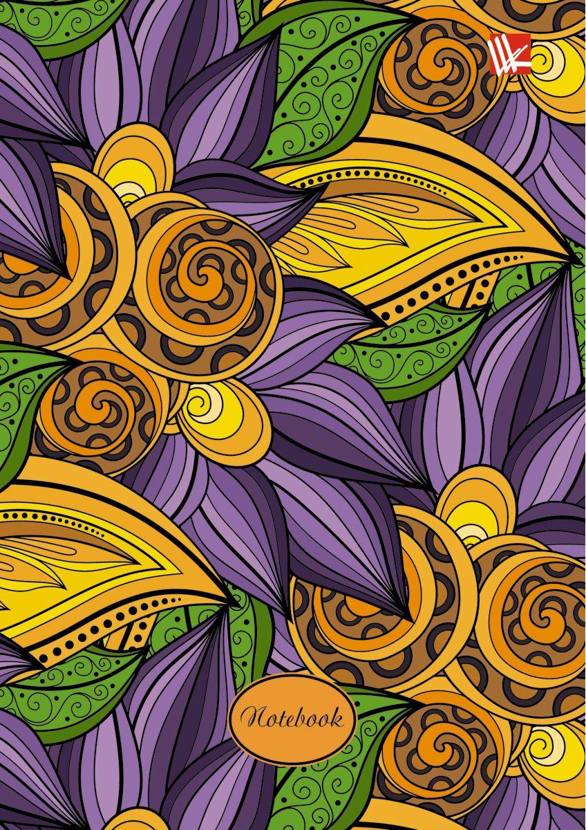 Канц-Эксмо Записная книжка Цветы Волшебные краски 96 листов в клеткуIDN011/A5/BK/SЗаписная книжка в твердом переплете А6, 96 листов. Обложка с глянцевой ламинацией. Форзацы белые. Бумага – офсет 60 г/м2, клетка. Сшитый блок.