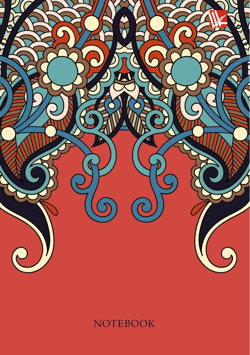 Канц-Эксмо Записная книжка Орнамент Вдохновение 96 листов в клетку канц эксмо записная книжка орнамент розовые пионы 64 листа в клетку
