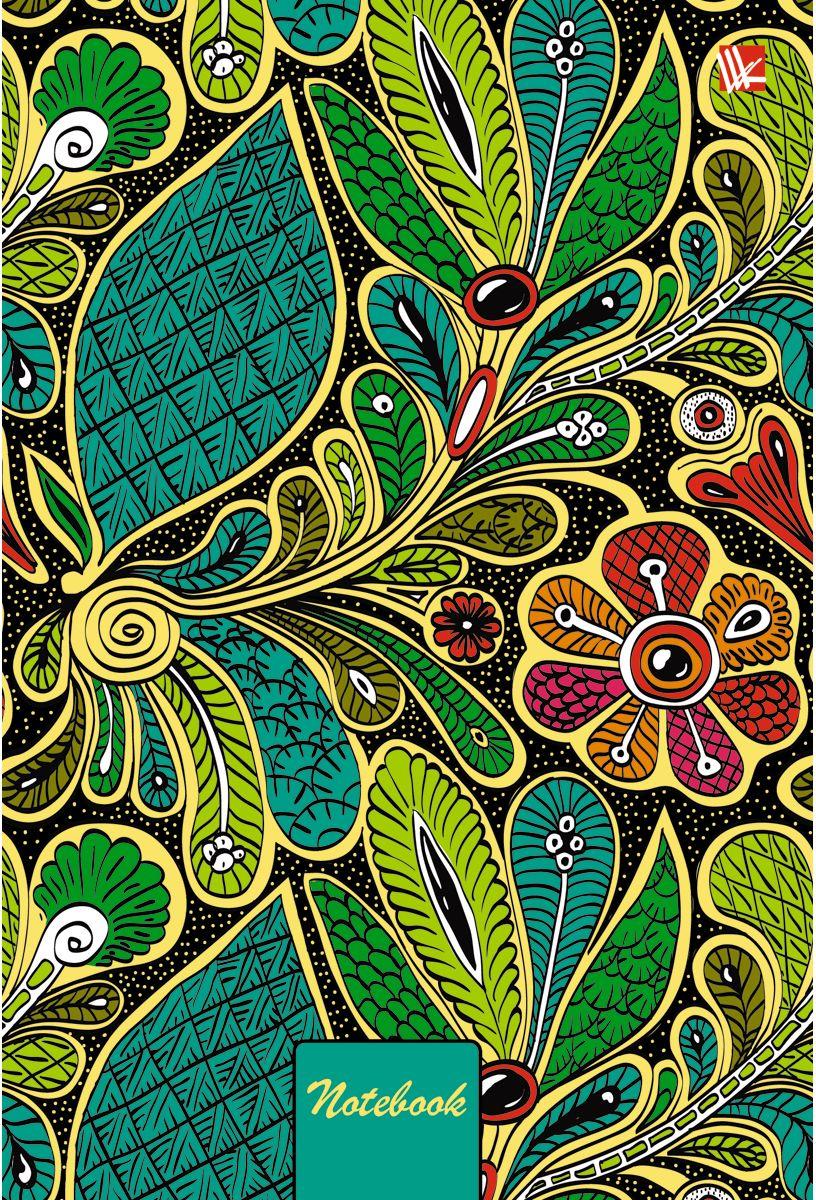 Канц-Эксмо Записная книжка Орнамент Волшебные цветы 80 листов в клетку72523WDЗаписная книжка в твердом переплете с поролоном А5- (132х186), 80 листов. Обложка с матовой ламинацией, выборочным лакированием и блестками. Форзацы цветные. Бумага – офсет 70 г/м2, белая, клетка. Сшитый блок.