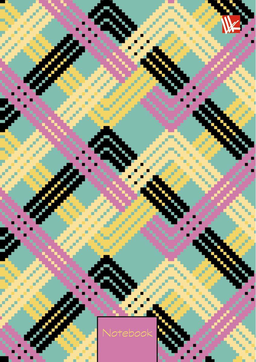 Канц-Эксмо Записная книжка Офисный стиль Переплетение 64 листа в клетку канц эксмо записная книжка орнамент розовые пионы 64 листа в клетку