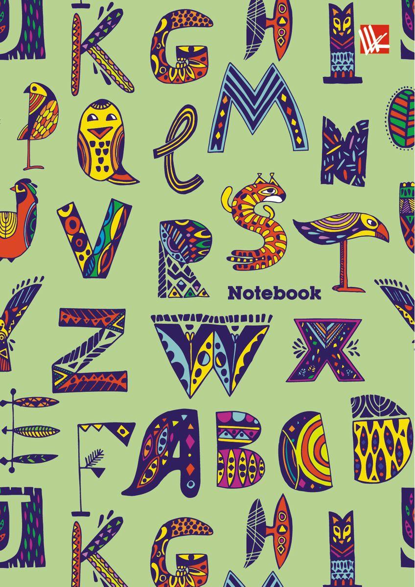 Канц-Эксмо Записная книжка Орнамент Волшебные буквы 64 листа в клетку канц эксмо записная книжка орнамент розовые пионы 64 листа в клетку