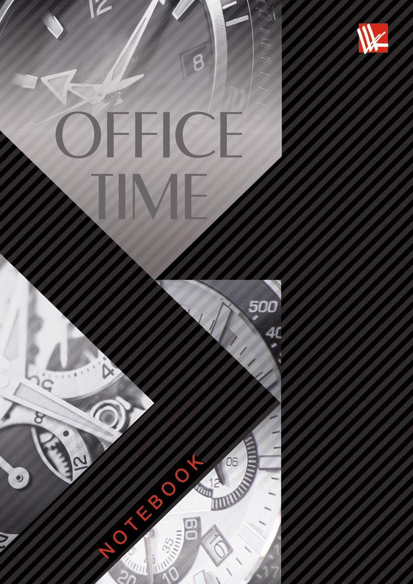 Канц-Эксмо Записная книжка Офисный стиль Office Time 80 листов в клеткуКЗ41001929Записная книжка в твердом переплете А6, 80 листов. Обложка с матовой ламинацией и выборочным лакированием. Форзацы белые. Бумага – офсет 60 г/м2, клетка. Сшитый блок.