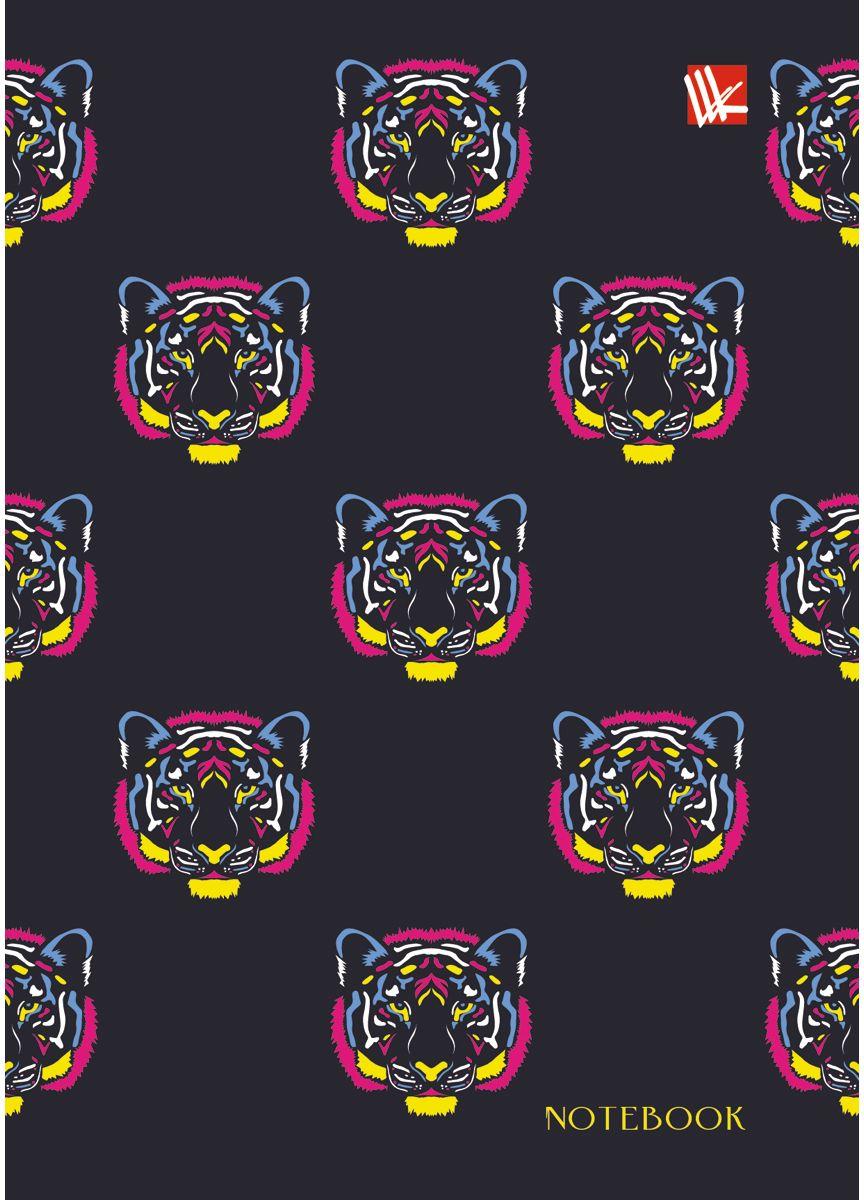 Канц-Эксмо Записная книжка Орнамент Разноцветные тигры 80 листов в клетку72523WDЗаписная книжка в твердом переплете А6, 80 листов. Обложка с матовой ламинацией и выборочным лакированием. Форзацы белые. Бумага – офсет 60 г/м2, клетка. Сшитый блок.