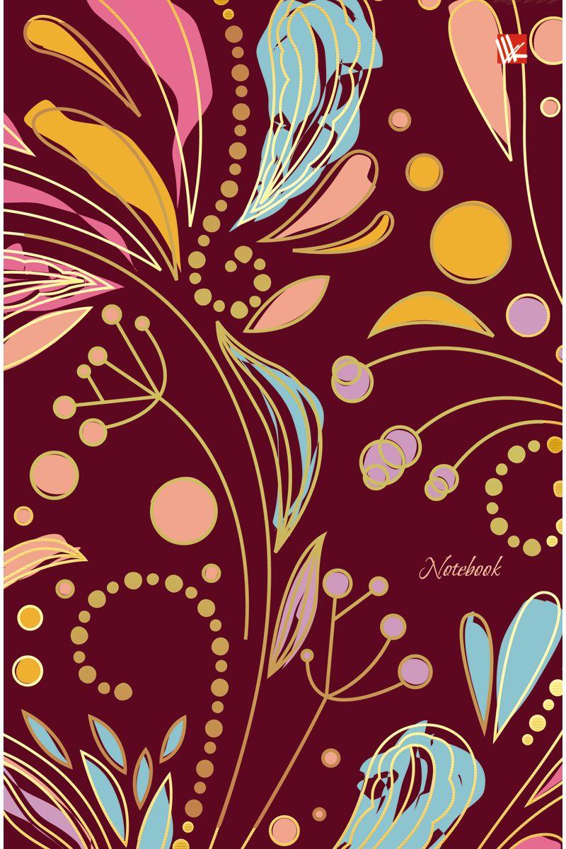 Канц-Эксмо Записная книжка Орнамент Волшебные цветы 100 листов в клетку72523WDЗаписная книжка в твердом переплете А5, 100 листов. Обложка с матовой ламинацией и тиснением фольгой. Форзацы тонированные. Бумага – офсет 60 г/м2, белая, клетка. Сшитый блок.