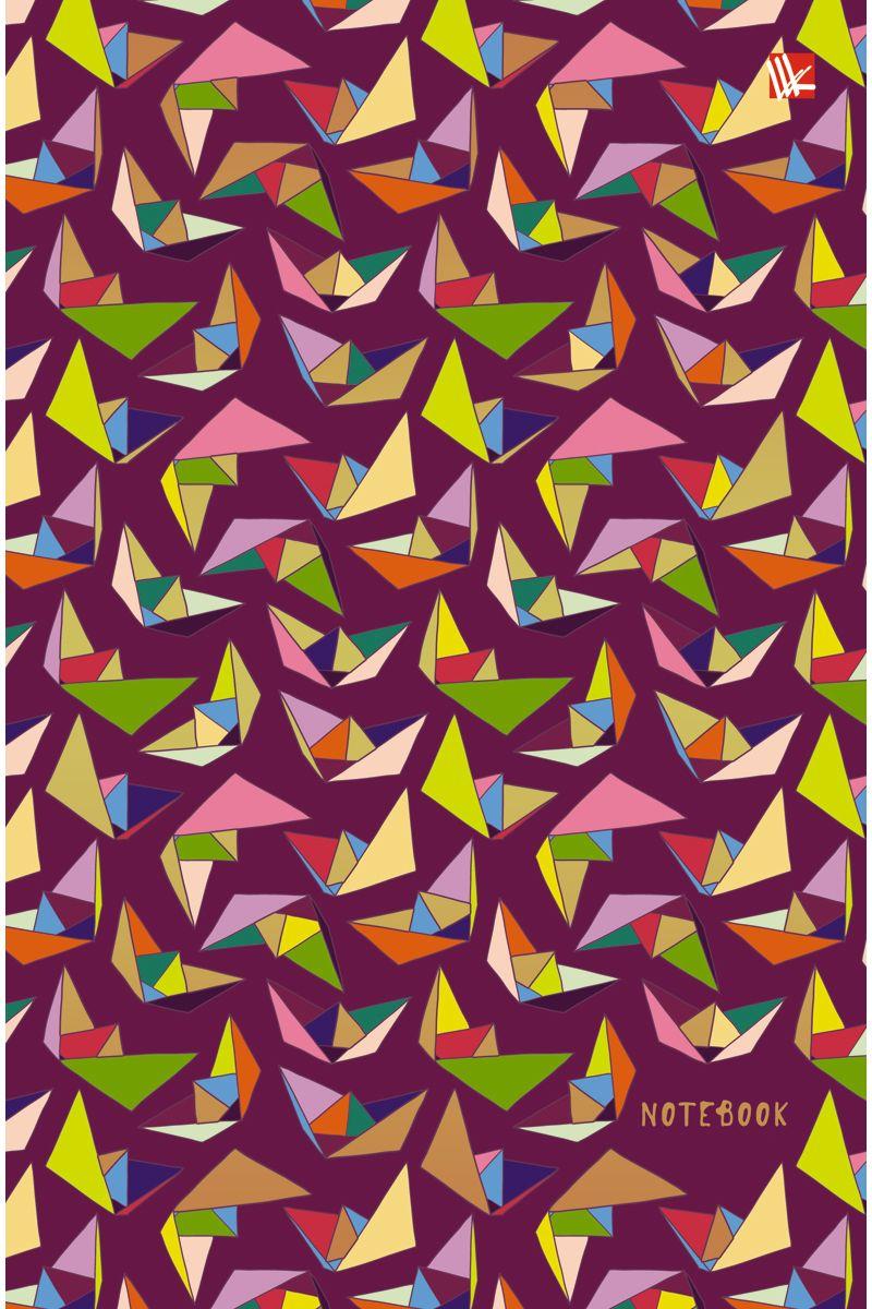 Канц-Эксмо Записная книжка Орнамент Оригами 100 листов в клетку72523WDЗаписная книжка в твердом переплете А5, 100 листов. Обложка с матовой ламинацией и тиснением фольгой. Форзацы тонированные. Бумага – офсет 60 г/м2, белая, клетка. Сшитый блок.