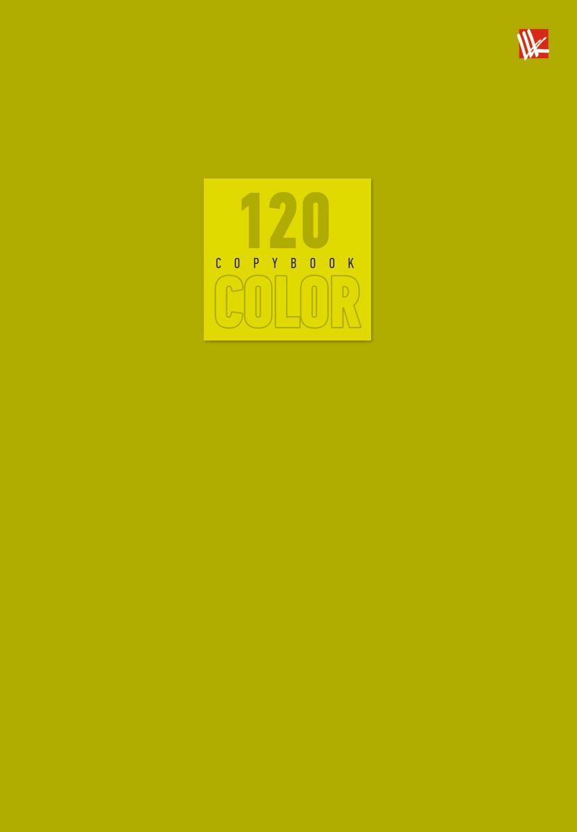 Канц-Эксмо Тетрадь Стиль и цвет 120 листов в клетку цвет оливковый72523WDТетрадь А5- 120 листов на швейно-клеевом креплении, клетка. Обложка мелованный картон повышенного качества, матовая ламинация. Бумага офсет 60г/м2