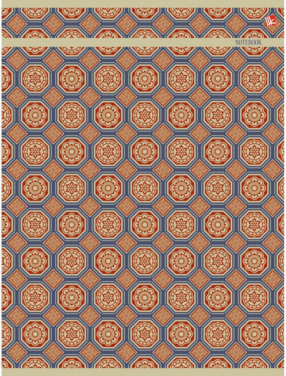 Канц-Эксмо Тетрадь Орнамент Золотая мозаика 96 листов в клетку730396Тетрадь А4 96 листов на скрепке, клетка. Обложка мелованный картон с выборочным лакированием и блестками, бумага офсет 60г/м2