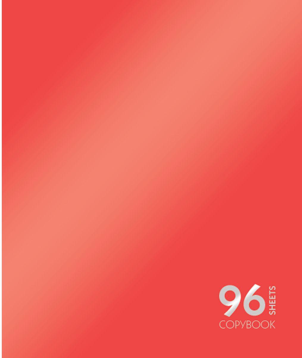 Канц-Эксмо Тетрадь Сияние цвета 96 листов в клетку цвет красный72523WDТетрадь А5 96 листов на скрепке, клетка. Обложка мелованный картон с пантонной металлизированной печатью. Бумага офсет 60г/м2
