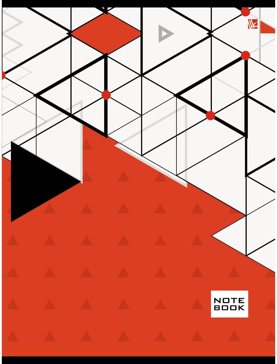 Канц-Эксмо Тетрадь Офисный стиль Яркая геометрия 96 листов в клетку72523WDТетрадь А4 96 листов на скрепке, клетка. Обложка мелованный картон с выборочным лакированием, бумага офсет 60г/м2