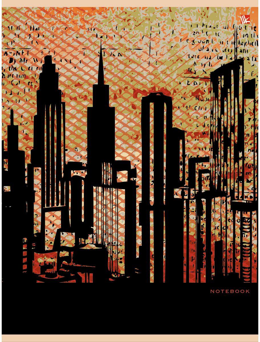 Канц-Эксмо Тетрадь Графика Мегаполис 96 листов в клеткуТ51205173Тетрадь А4 96 листов на скрепке, клетка. Обложка мелованный картон с выборочным лакированием, бумага офсет 60г/м2