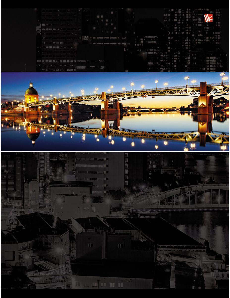 Канц-Эксмо Тетрадь Городской стиль Ночные огни 96 листов в клетку72523WDТетрадь А4 96 листов на скрепке, клетка. Обложка мелованный картон с тиснением фольгой, бумага офсет 60г/м2
