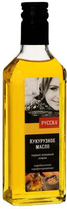 Русска масло кукурузное нерафинированное, 250 г кокосовое масло нерафинированное baraka 250 г