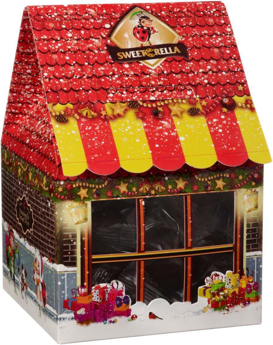 Sweeterella ассорти магазин сладостей, 359 г0120710Магазин сладостей - отменный подарок для детей и взрослых! Большая коробка в форме домика – магазина с новогодним дизайном и многочисленными вкусными сладостями ! Изысканное угощение для праздничного стола! Состав: Ассорти сладостей: - Желейный мармелад со вкусов вишни; - Суфле глазированное шоколадной глазурью со вкусами Ваниль, Банан, Лесные ягоды, Апельсин; - Конфеты, глазированные шоколадной глазурью с сахарно-помадной начинкой со вкусами Йогурт, Тутти-Фрутти, Дыня