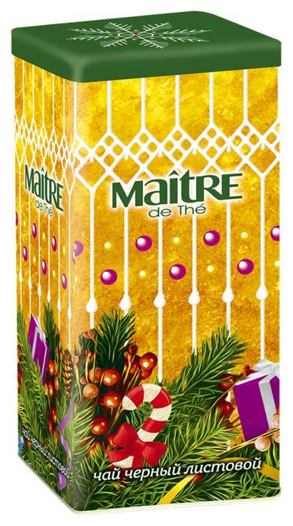 Maitre чай черный новогоднее настроение, 90 г часы grand maitre