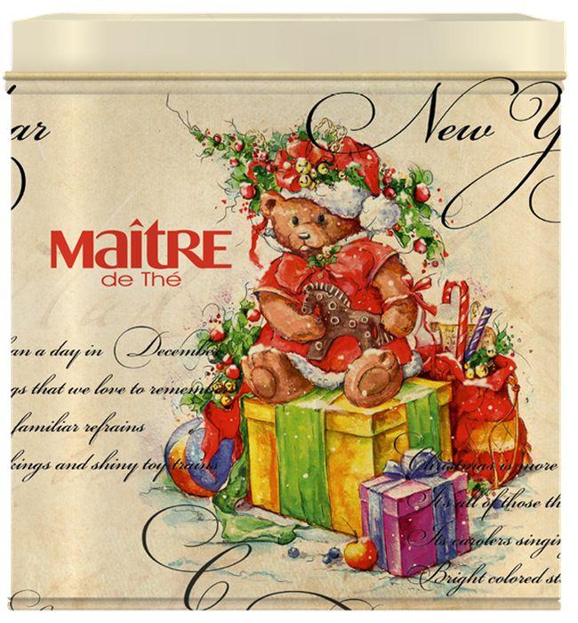 Maitre чай черный цейлонский крупнолистовой новогодний мишка, 70 г101246Чай черный крупнолистовой цейлон обладающий терпким и темным настоем. Вкус знакомый каждому.