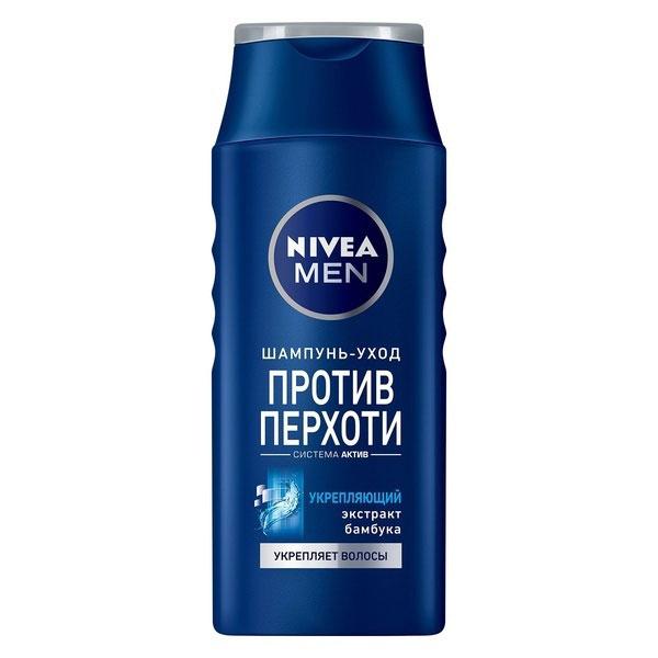 NIVEA Шампунь против перхоти «Укрепляющий» 400 мл7412Шампунь Nivea for Men Power с экстрактом бамбука эффективно устраняет и предотвращает перхоть. Мягко ухаживает за волосами и кожей головы.Заметно укрепляет волосы.Волосы становятся сильными и здоровыми.Подходит для ежедневного применения. Характеристики:Объем: 400 мл. Производитель: Россия. Артикул: 81541. Товар сертифицирован.