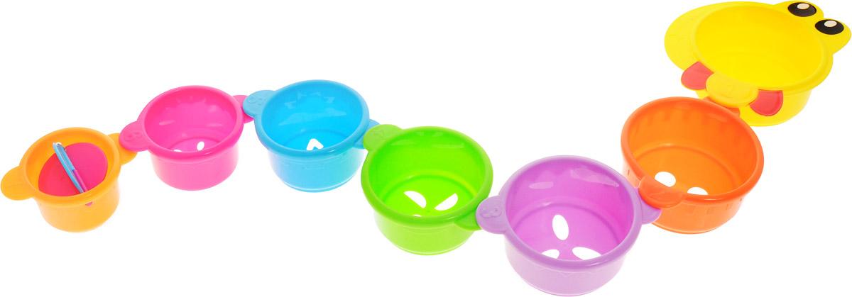 Малышарики Игрушка для ванной Змейка цвет желтый