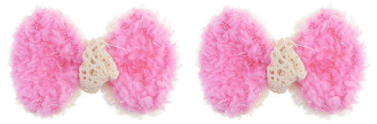 Зажим для волос Fashion House, цвет: розовый, 2 шт. FH28116AC-1121RDЗажим для волос Fashion House изготовлен из металла и декоративным элементом из текстиля, выполненным в виде бантика. Зажим надежно зафиксирует волосы и завершит образ.