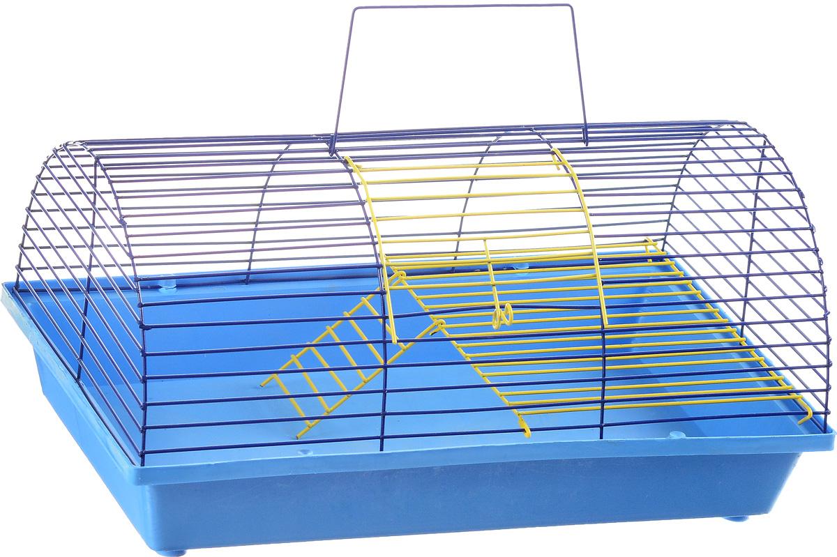 Клетка для грызунов ЗооМарк, цвет: голубой поддон, синяя решетка, 36 х 23 х 17,5 см. 110ж0120710Клетка ЗооМарк, выполненная из полипропилена и металла, подходит для грызунов. Она имеет яркий поддон, удобна в использовании и легко чистится. Клетка оснащена вторым ярусом с лесенкой, выполненных из металла.Такая клетка станет уединенным пространством и уютным домиком для маленького грызуна.