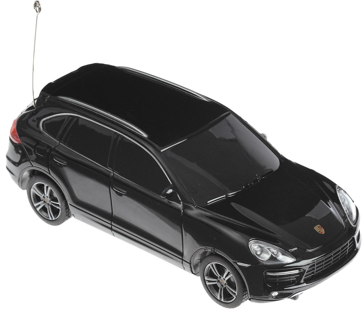 """Радиоуправляемая модель Rastar """"Porsche Cayenne Turbo"""" - точная копия настоящего автомобиля, выполненная в масштабе 1/32. Автомобиль обладает неповторимым провокационным стилем и спортивным характером. Автомобиль с литым корпусом изготовлен из современных прочных материалов и обладает высокой стабильностью движения, что позволяет полностью контролировать его процесс, управляя без суеты и страха сломать игрушку. Управление машинкой осуществляется при помощи пульта управления, который работает на частоте 27 MHz. Основные направления движения автомобиля: вперед-вправо. Для работы автомобиля необходимо купить 2 батарейки напряжением 1,5V типа АА (не входят в комплект). Для работы пульта управления необходимо купить 2 батарейки напряжением 1,5V типа АА (не входят в комплект)."""