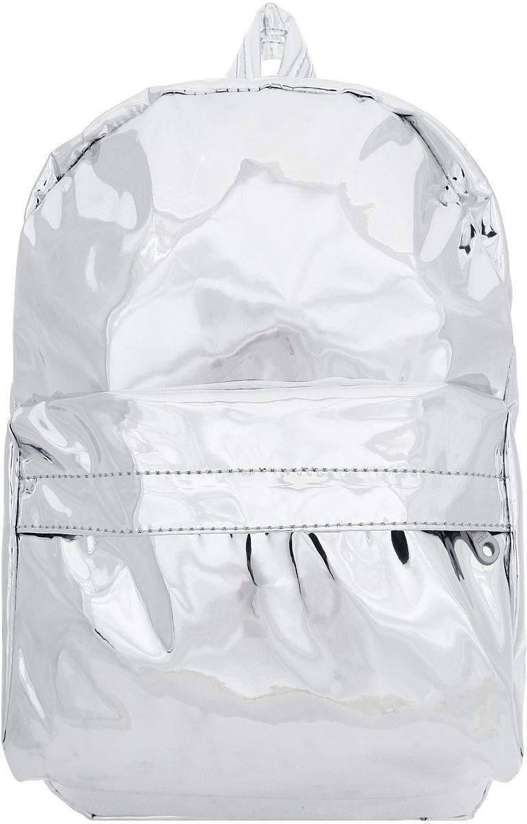 Рюкзак Kawaii Factory Галактический, цвет: серебряный. KW102-000271S76245Сложить все необходимое и сразить всех космическим стилем можно с модным рюкзаком от Kawaii Factory. Он выполнен из прочного материала, не боится плохой погоды и подойдет к любому, даже самому смелому образу. В нем есть все, что нужно - одно основное отделение, закрывающееся на застежку-молнию, один внутренний накладной карман, а также карман на молнии на передней части рюкзака. Благодаря отличной эргономичности прогулочный рюкзак будет практически невесомым на вашей спине. Вместительный универсальный рюкзак в футуристическом стиле соткан из самых смелых модных тенденций с добавлением практичности. Он обязательно поднимет настрой в любой ситуации.