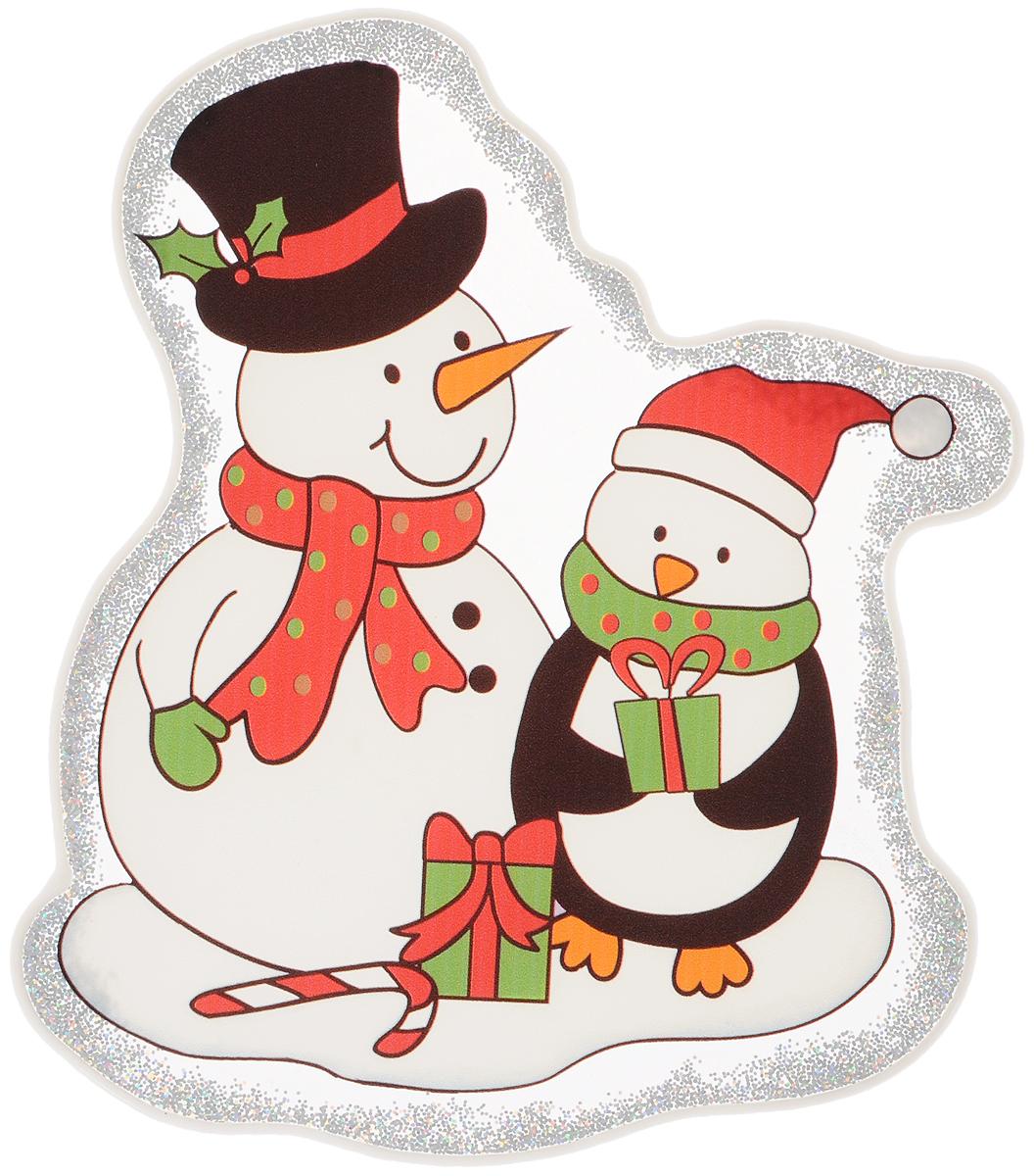 Украшение новогоднее оконное Winter Wings Снеговики, 16,5 х 18 см72503Новогоднее оконное украшение Winter Wings Снеговики поможет украсить дом к предстоящим праздникам. Наклейка изготовлена из ПВХ и выполнена в виде двух снеговиков.С помощью этого украшения вы сможете оживить интерьер по своему вкусу, наклеить его на окно, на зеркало или на дверь.Новогодние украшения всегда несут в себе волшебство и красоту праздника. Создайте в своем доме атмосферу тепла, веселья и радости, украшая его всей семьей. Размер украшения: 16,5 х 18 см.