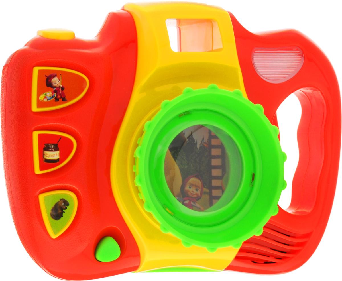 Умка Развивающая игрушка Музыкальный фотоаппарат Маша и Медведь умка развивающая игрушка фотоаппарат чебурашки