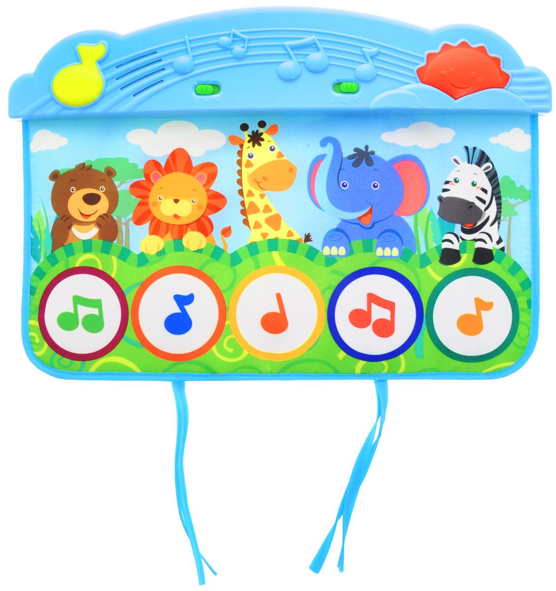Жирафики Развивающий музыкальный коврик Веселый зоопарк