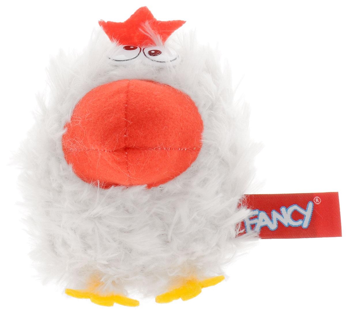 Fancy Мягкая озвученная игрушка Курочка 10 см цвет белый